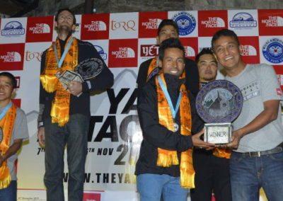 Yak Attack winner 2015, Ajay Pandit Chhetri. Sponsored by NorthFace, hosted at Fishtail Lodge, Pokhara.