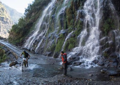 Water fall between Besi Sahar and Taal. Yak Attack,Nepal