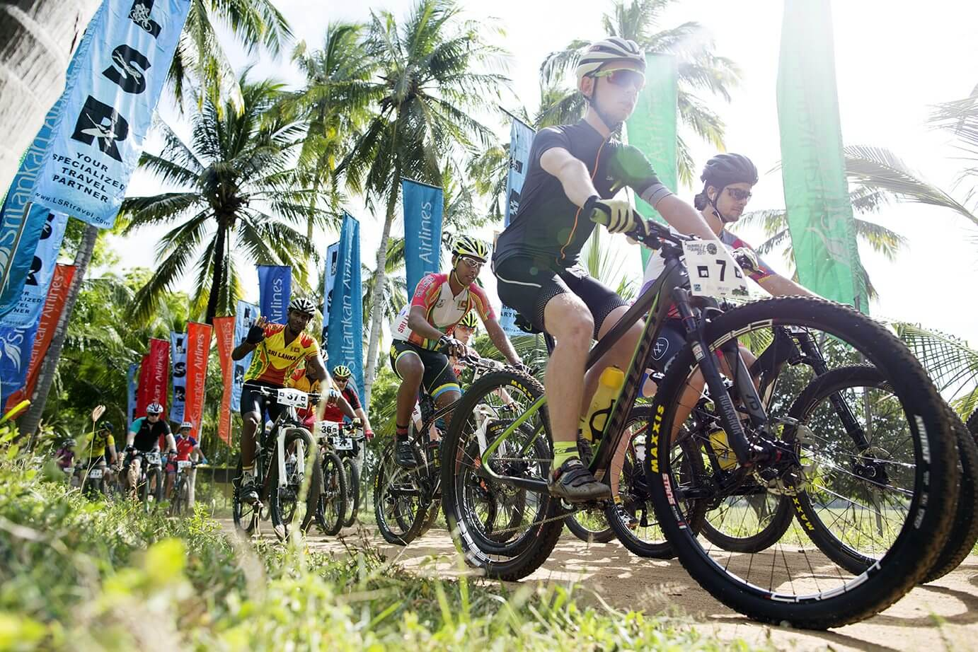 Start of the race in Kuda Oya, Sri Lanka