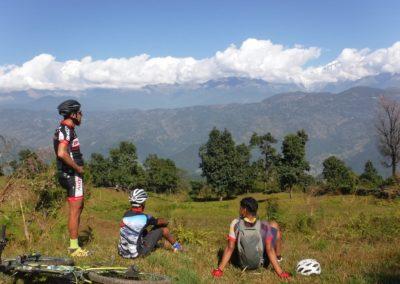 Admiring the view of the Annapurna's - Pokhara