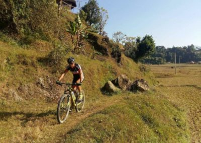 There's plenty of singletrack through out Pokhara Trails