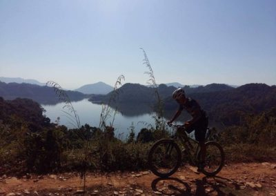 Riding around Begnas lake near Pokhara