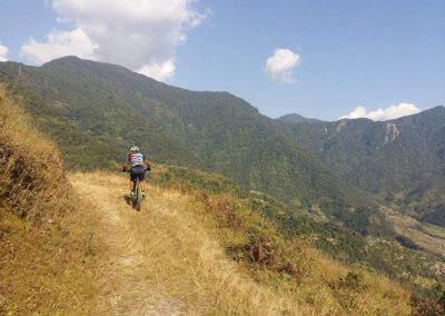 There's a great mixture of riding surfaces throughout Pokhara Trails