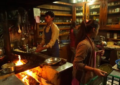 The kitchen is the centre of every teahouse in Nepal