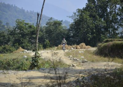 "Theres plenty of ""alone"" time to be had in rural Nepal, whilst on a bike"