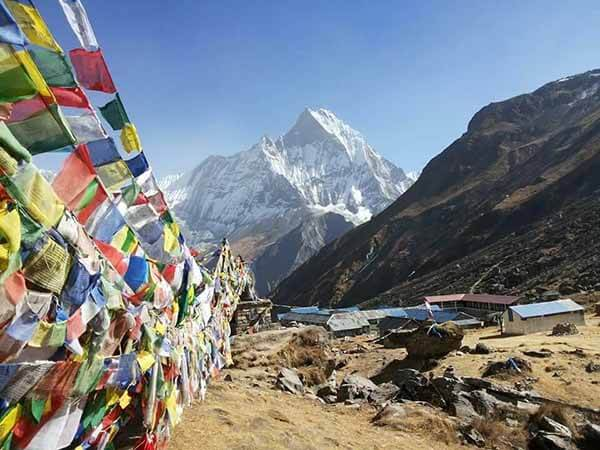 Prayer flags, Annapurna Basecamp Trek